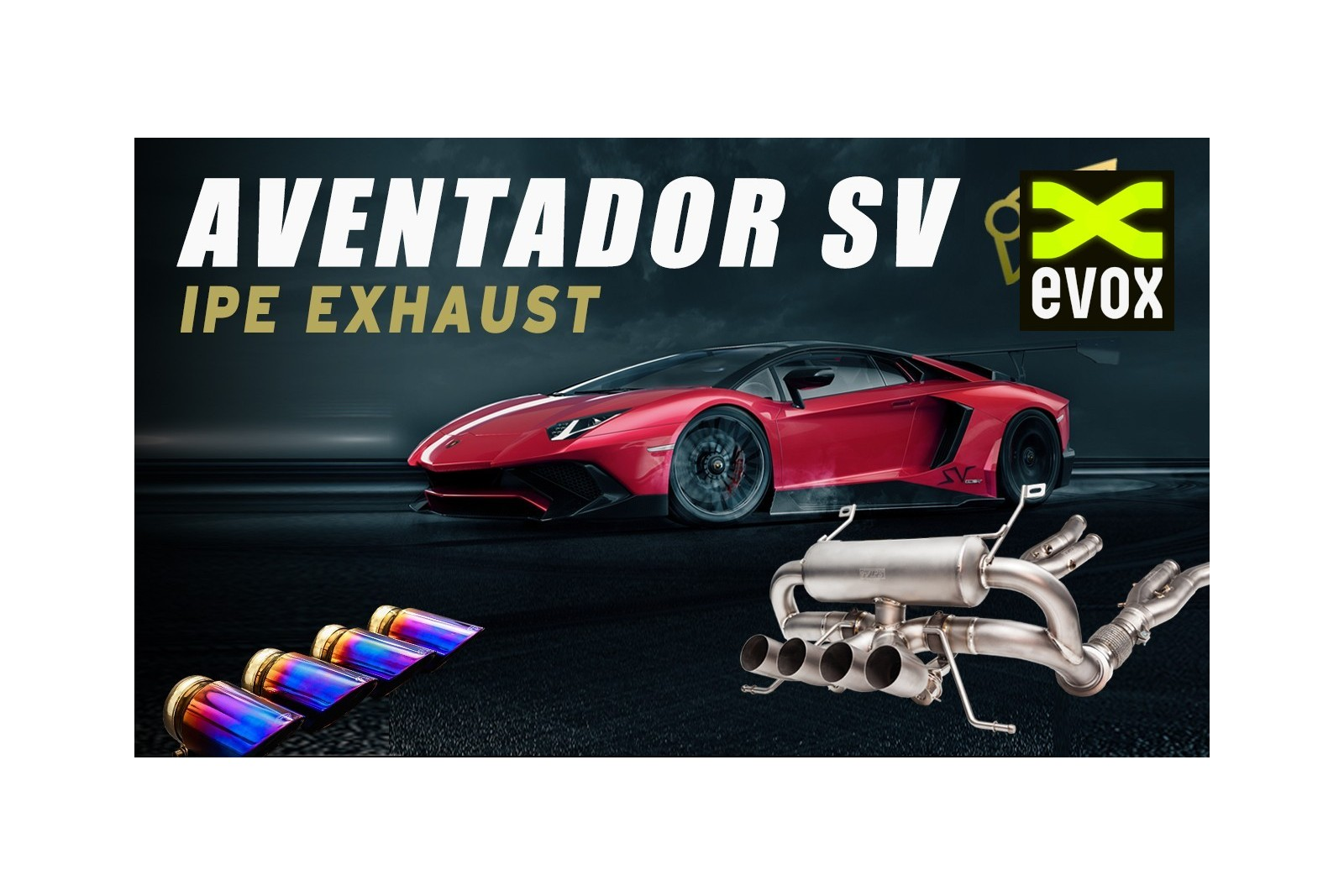 Ipe Titanium Exhaust System Lamborghini Aventador Sv Lp750 Evox Performance