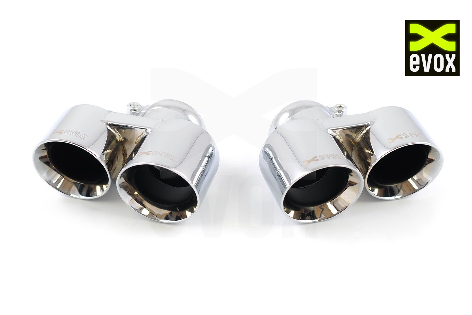 EVOX Chrome Exhaust Tips Porsche 997 Turbo MKI